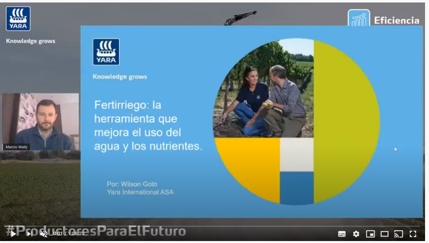 Webinar: Fertirriego, la herramienta que mejora el uso del agua y los nutrientes