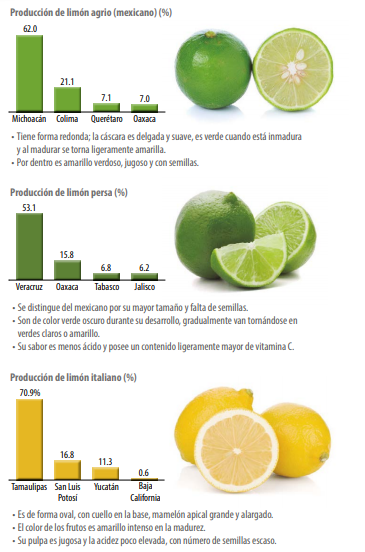 Limón en México (tipos)