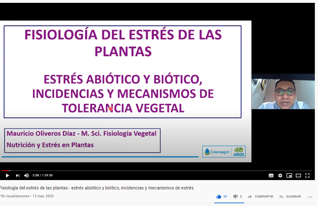 Fisiología del estrés de las plantas - estrés abiótico y biótico, incidencias y mecanismos de estrés