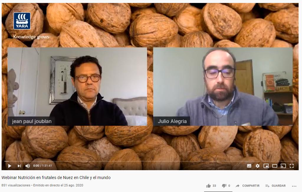 Webinar Nutrición en frutales de Nuez en Chile y el mundo