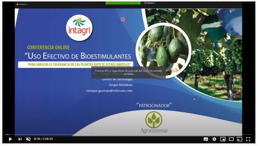 Webinar: Uso efectivo de bioestimulantes para inducir la tolerancia de las plantas ante el estrés abiótico.